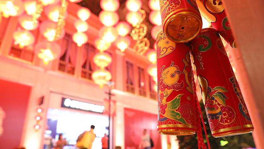 香港:夜游灯火吉祥红