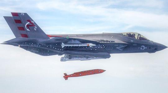 威胁中俄战舰!美军F-35配隐身滑翔导弹