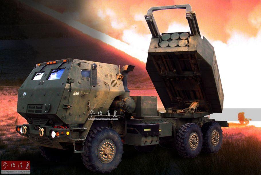 """M142""""海马斯""""(HIMARS,""""高机动火箭炮系统""""简称)为M270多管火箭炮(MLRS)的轻量化版本,主要由5吨级中型战术军卡和M270的一组227毫米六联箱式发射器组成。"""