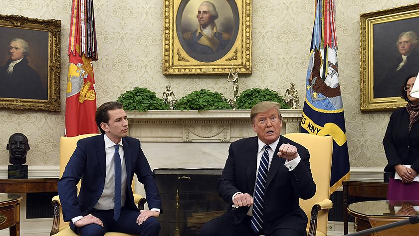 特朗普会见奥地利总理库尔茨