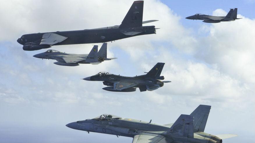近百架战机集结!美日澳在关岛举行联合空中军演