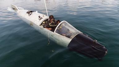废弃战机潜水?实为伊朗绝密蛙人潜艇