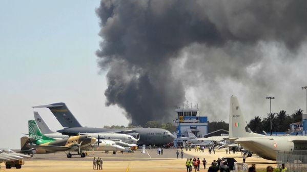 2019印度航展事故频传:先有撞机惨剧 又遇严重火灾