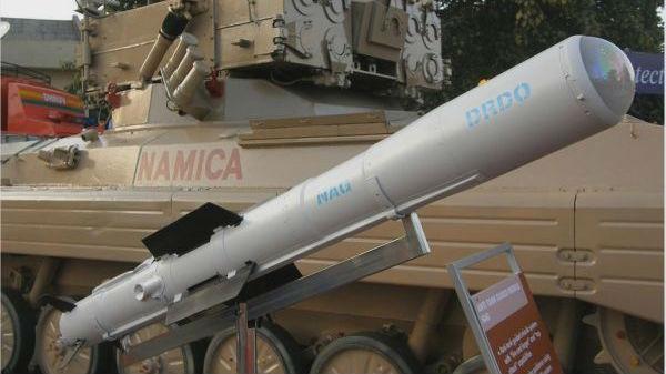 """印度""""毒蛇""""反坦克导弹将投产 取消采购以色列近万枚导弹"""
