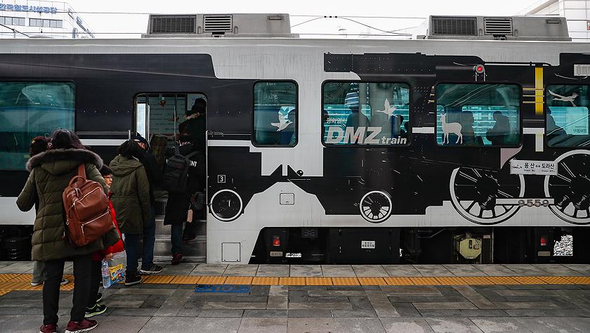 探访朝韩边境列车