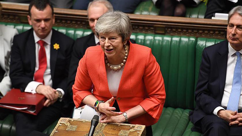特雷莎·梅在议会进行首相问答