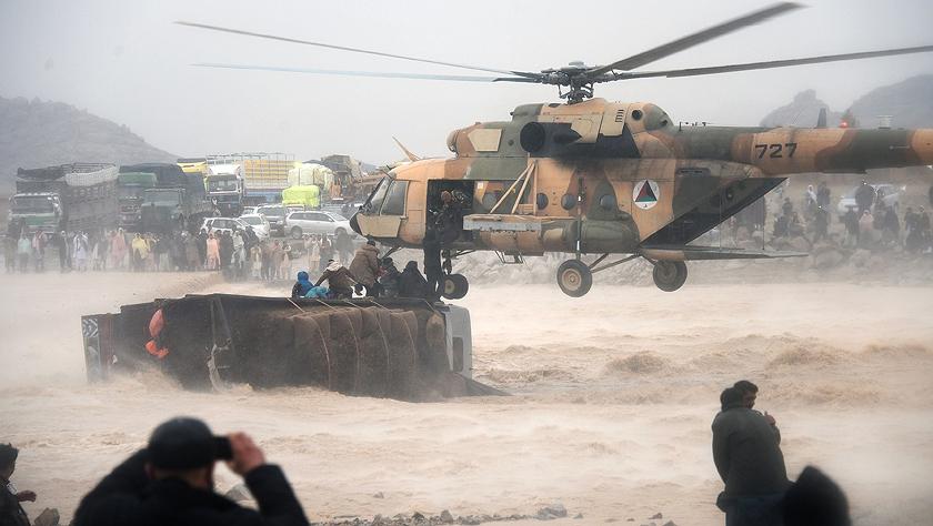 阿富汗南部强降雨引发洪灾致数十人死亡