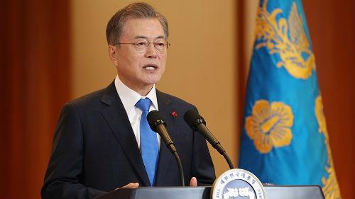 """文在寅积极评价二次""""金特会"""" 韩媒称美韩对无核化态度现差异"""