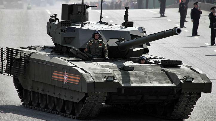 """俄拟为""""阿玛塔""""坦克配备马桶 以便乘员长时间作战"""