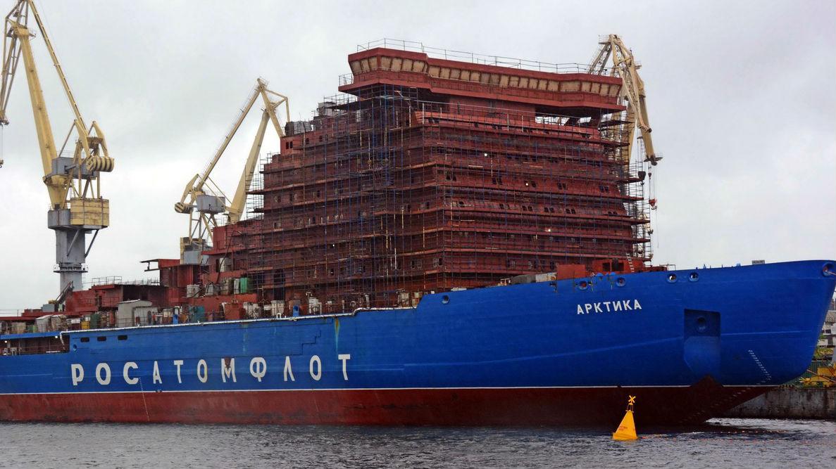 """俄称""""北极""""号核破冰船今年交付 动力世界最强"""