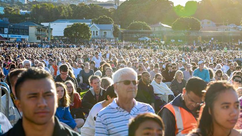 新西兰首都惠灵顿举行公共悼念活动