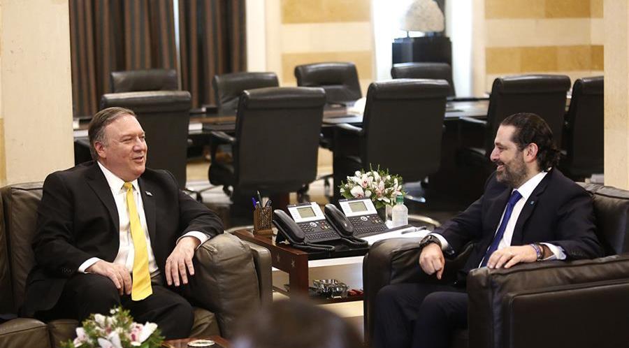 蓬佩奥抨击真主党言论在黎巴嫩碰壁