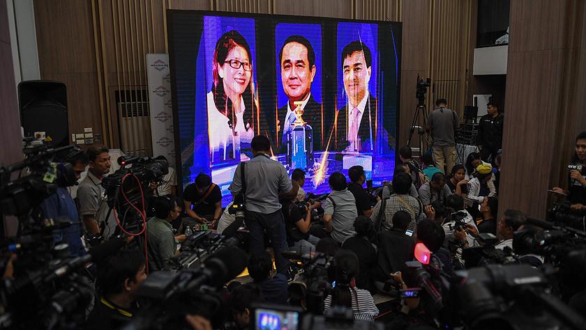 泰国大选350席分区议席中为泰党暂获多数议席