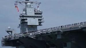 """美海军""""福特""""号航母出现故障 被迫延长修理周期"""
