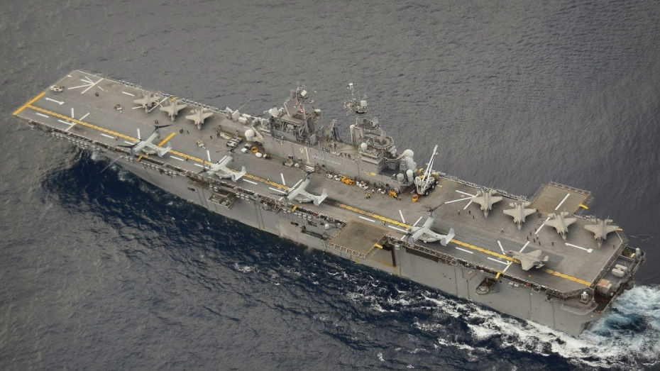 """美军欲打造""""闪电航母""""舰队 最多可载20架F-35B作战"""