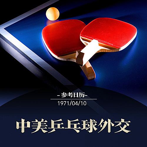乒乓球外交图