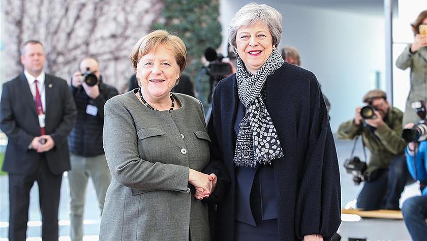 英国首相特雷莎·梅访问德国