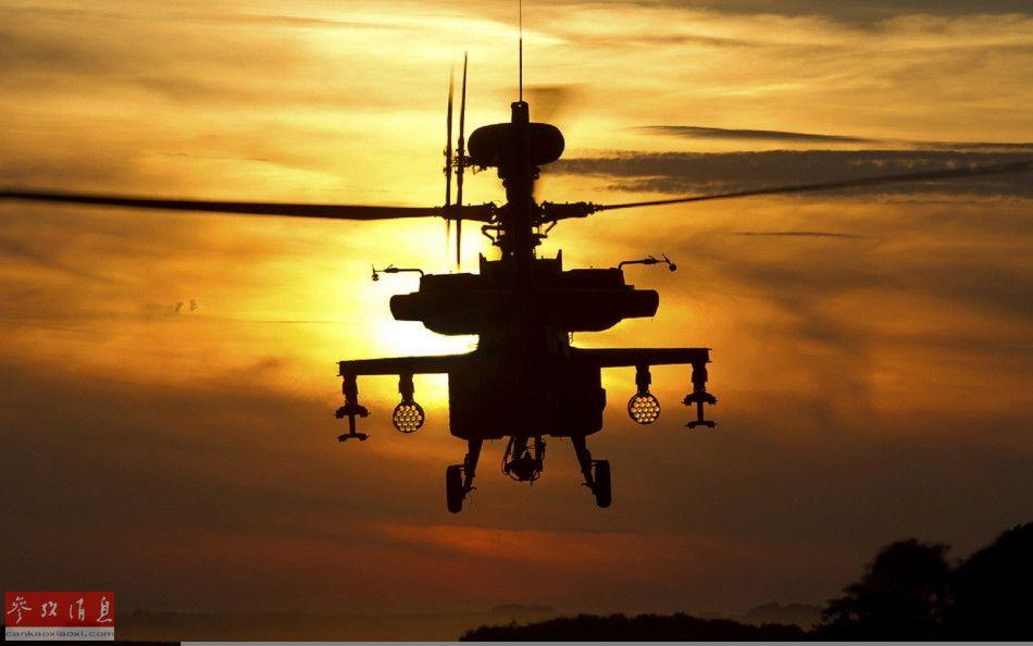 """美军AH-64D""""长弓阿帕奇""""武直。"""