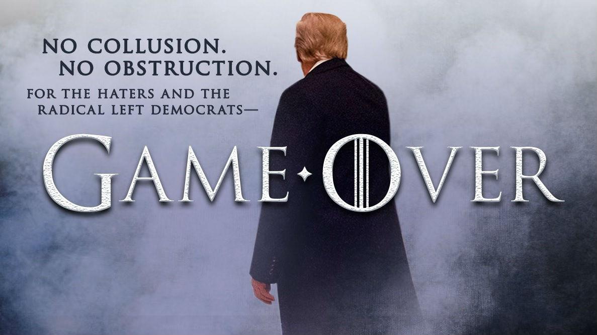 """""""通俄门""""报告公开后特朗普发推称""""游戏结束"""" 结果又侵权了"""