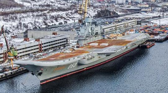 甲板锈迹斑斑!俄唯一航母维修新图曝光