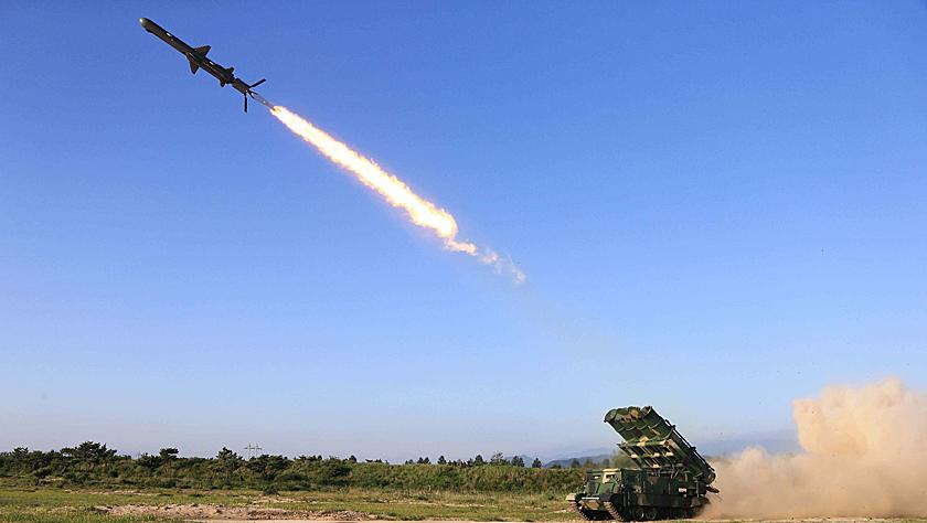 """朝鲜试射""""新型武器""""引猜测 美媒:可能是短程战术导弹"""