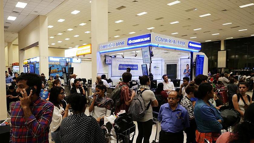 警戒中的科伦坡国际机场