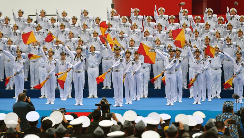 庆祝人民海军成立70周年多国海军活动联合军乐展示举行