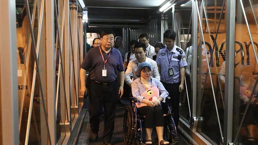 3名在斯里兰卡爆炸事件中受伤的中国公民乘机返穗