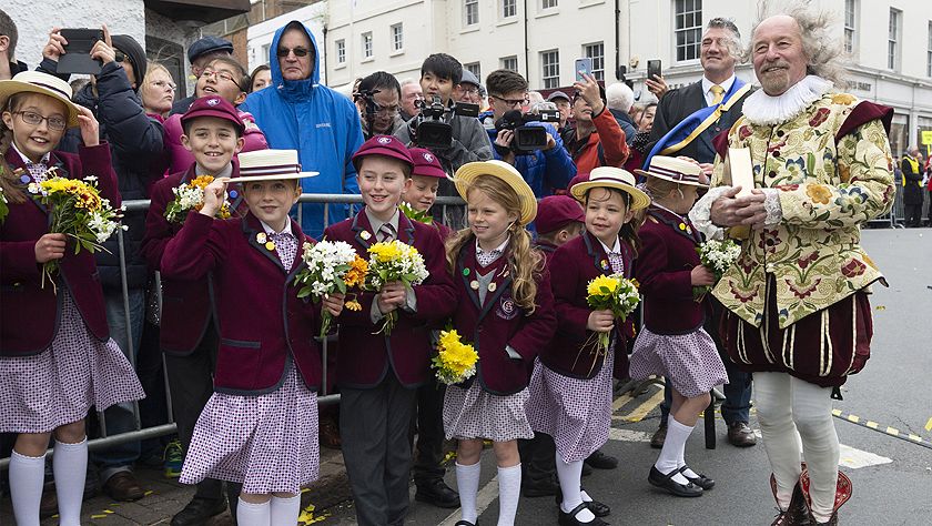 英国庆祝莎士比亚455周年诞辰