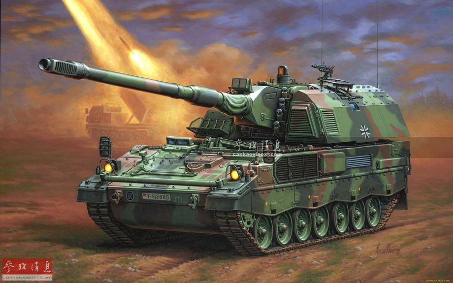 """先简要介绍下PzH-2000(""""装甲榴弹炮-2000""""的德语缩写)的概况,该型火炮由德国两大著名军火公司克劳斯-玛菲·威格曼(KMW)与莱茵金属公司于20世纪80年代末联合研发,是世界上较早采用52倍径155毫米榴弹炮的几种自行火炮之一。PzH-2000于1996年研发完成,1998年投入德国陆军服役,并于2006在阿富汗投入实战。"""