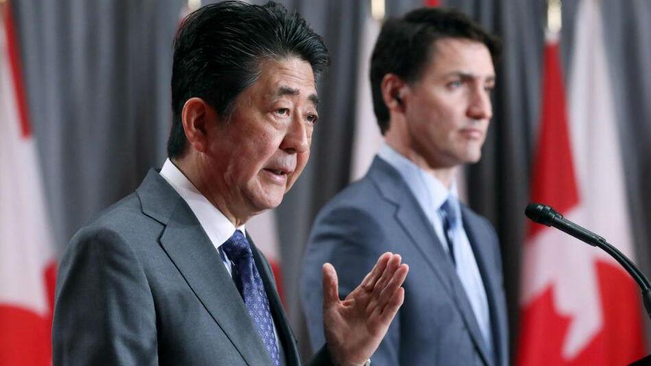 """尴尬!特鲁多会见安倍 两次把""""日本""""说成""""中国"""""""
