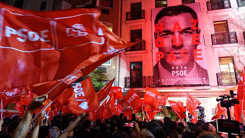 西班牙執政黨工人社會黨在議會選舉中得票率第一