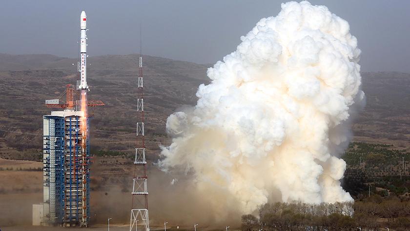 我国成功发射天绘二号01组卫星