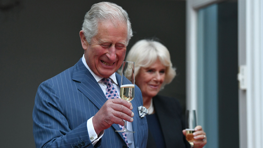 英国查尔斯王储夫妇在德出席英国女王生日派对