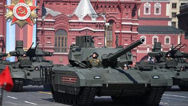 钢甲洪流!俄军主战装备云集红场阅兵