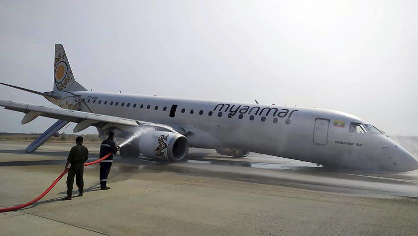 缅甸一客机成功迫降无人员伤亡