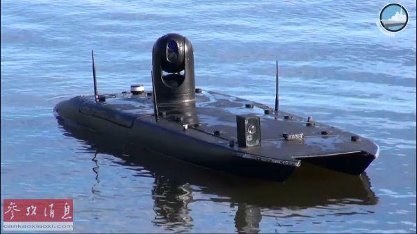 """mantas usv 承担后勤补给测试的""""曼塔斯""""无人船(美国雅虎新闻网站)"""