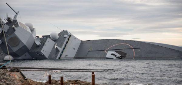 """外媒称挪威沉没""""神盾舰""""修复费用昂贵 堪比新造3艘战舰,硫化喷妥撒纳剂"""