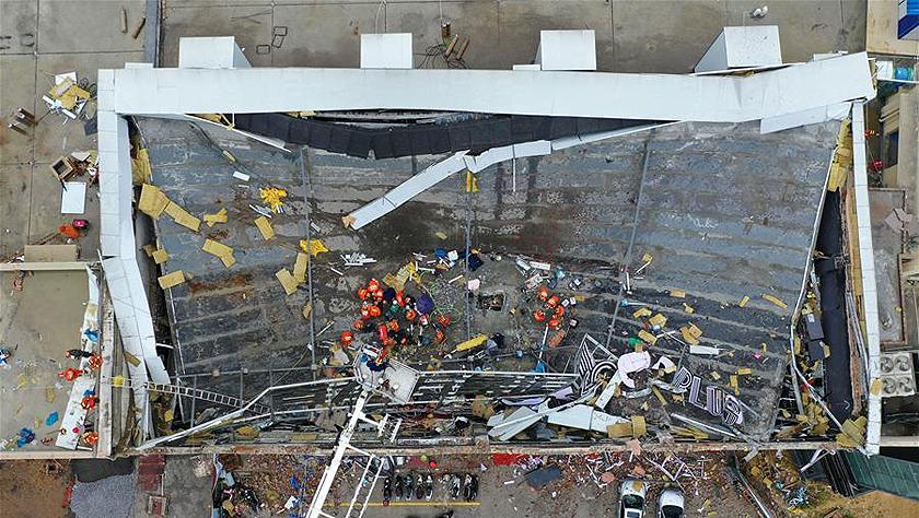 广西百色一酒吧屋顶坍塌事故已抢救出85人