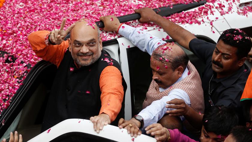 印度人民党在大选中得票数领先