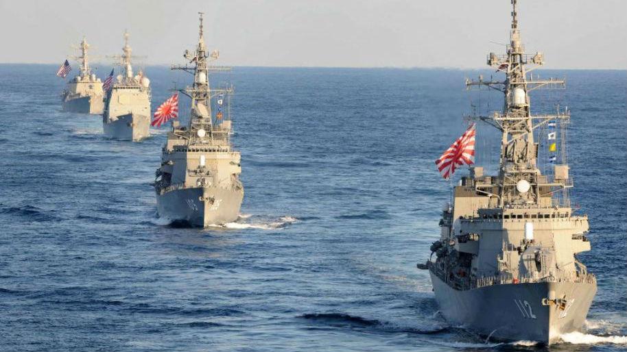 美日澳韩举行首次海上联合演习