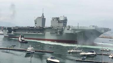 也玩雙艦島!意大利新型兩棲攻擊艦下水