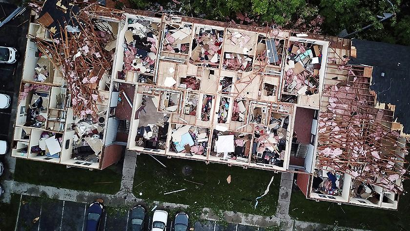 美國俄亥俄州遭龍卷風襲擊