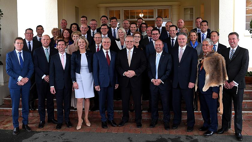 澳總理莫里森率新一屆政府官員宣誓就職