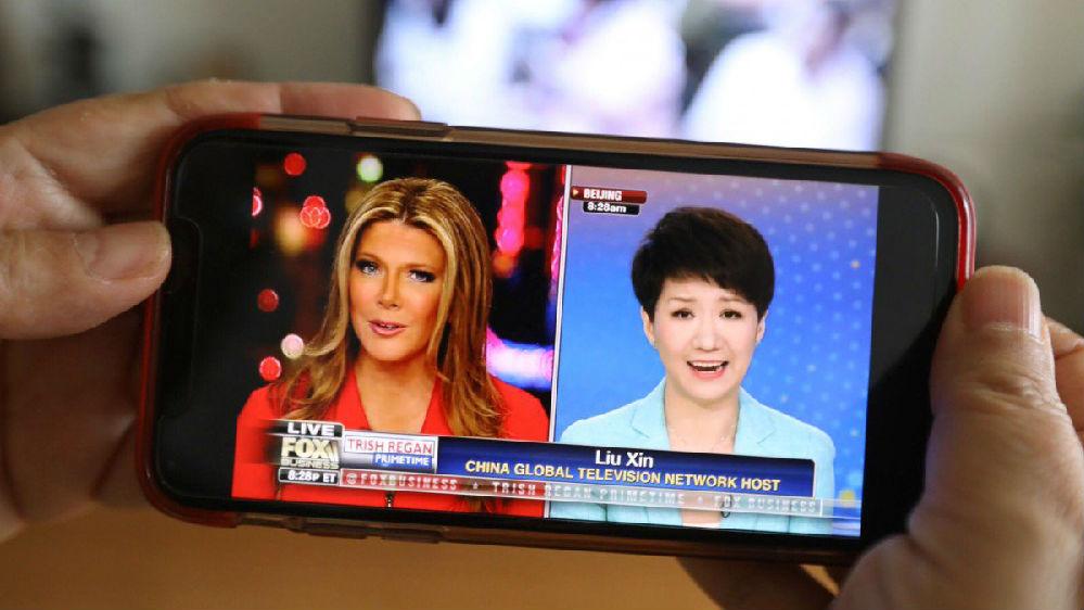 """境外媒体:中美女主播跨洋对话""""很平和"""""""