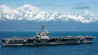 备战北极圈!美核航母巡航阿拉斯加沿岸