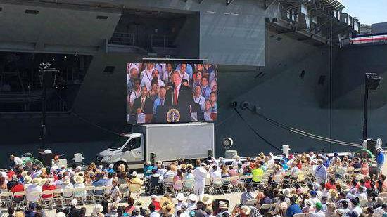 """""""敌方卧底""""支持?特朗普对电磁弹射系统成见为何这么深"""