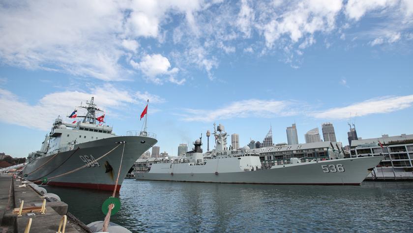 中国海军第31批护航编队访问澳大利亚