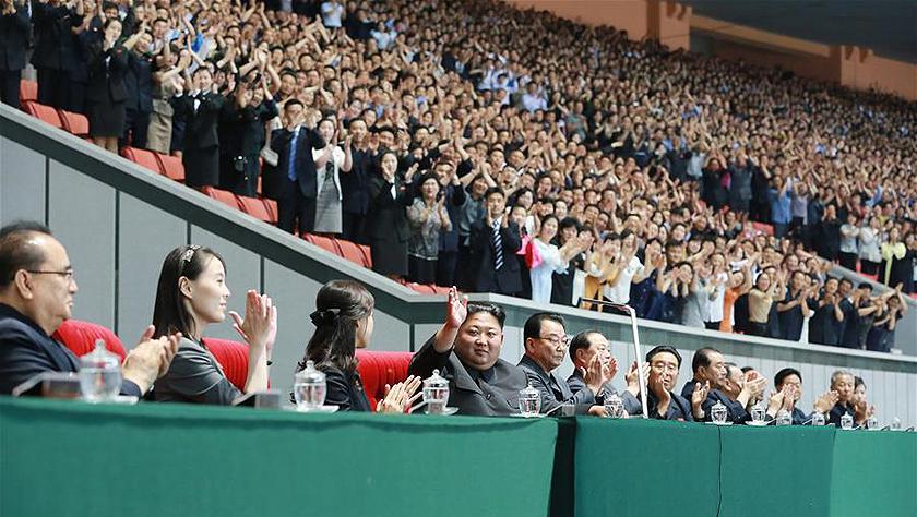 朝鮮大型團體操和藝術演出《人民的國家》在平壤舉行首演