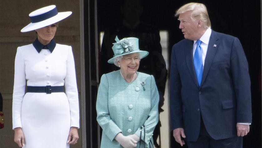 美国总统特朗普访问英国